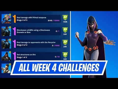 All Week 4 Epic & Legendary Quest Challenges Guides in Fortnite - Week 4 Quest in Chapter 2 Season 6