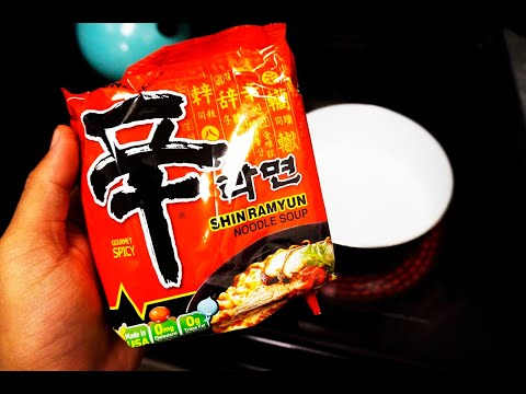 Nongshim Shin Ramyun Instant Noodle REVIEW - SPICY Gourmet Taste!