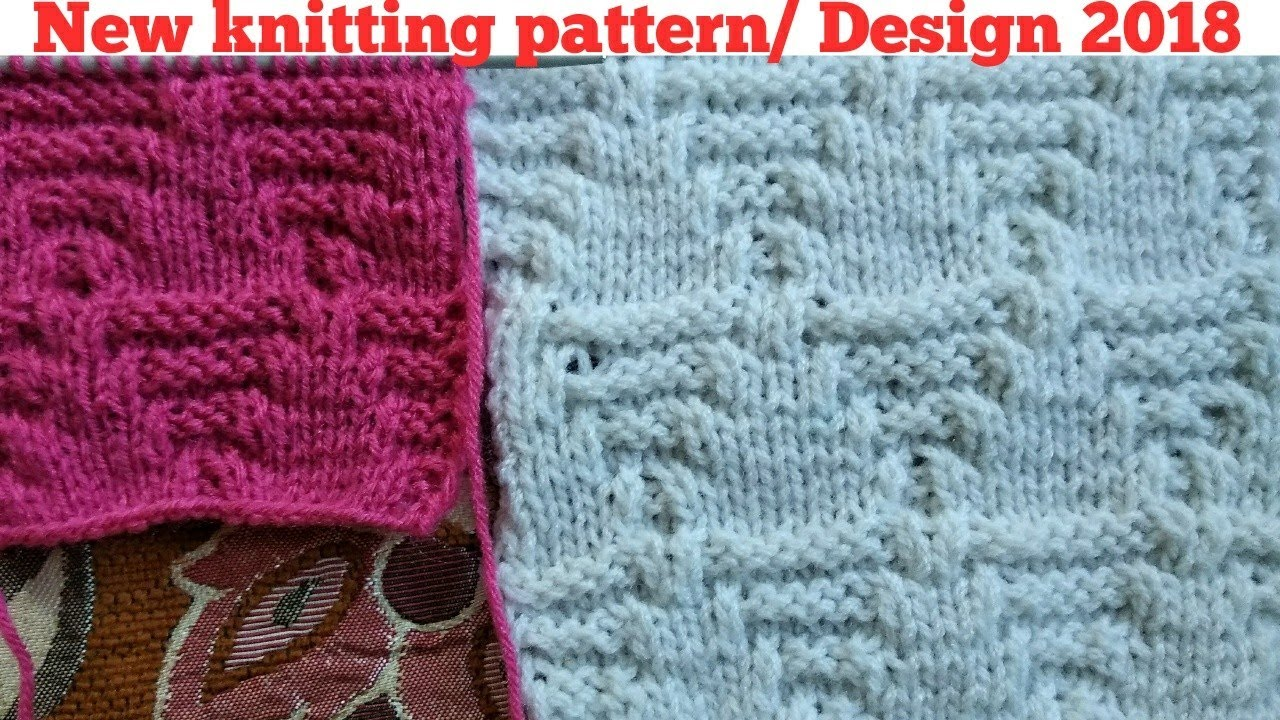 Latest knitting pattern / Design 2018 for gent's and ladies sweater in  Hindi and English subtitles