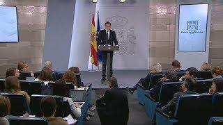 Rajoy quiere el cese de Puigdemont y su gobierno y convocar elecciones en Cataluña