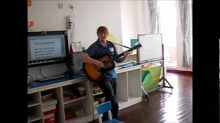 Ginge playing guitar - You're Beautiful - James Blunt