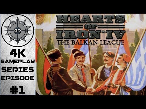 Forming the League - Hearts of Iron IV The Balkan League 4K Series #1