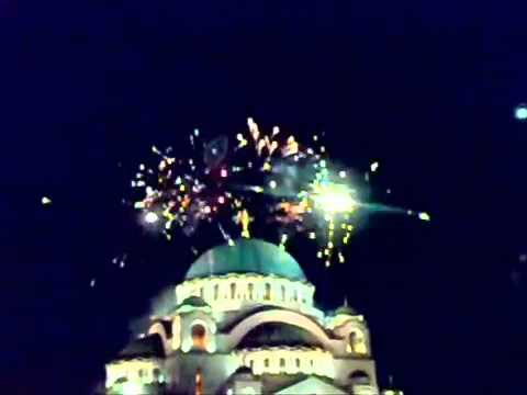 Orthodox New Year's Temple of Saint Sava, Belgrade