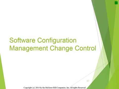 CS406: W2, L1: Software Configuration Management Change Control