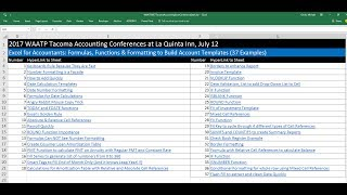 Excel for Accountants: Formulas, Functions & Formatting to Build Account Templates (37 Examples)