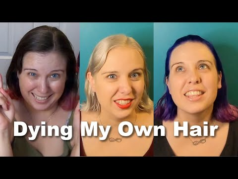 Mom with 5 Kids Bleaches and Dyes Her Own Hair
