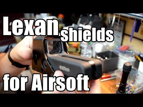 Custom Lexan Sheilds for Airsoft Optics/Lights