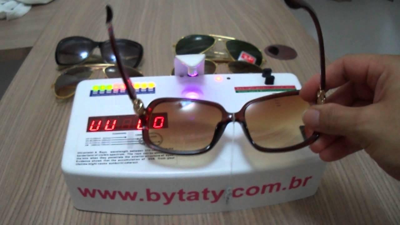 Teste Uv Óculos de Sol - YouTube 0b17675677