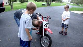 The boys got a razor mx500 dirt bike!
