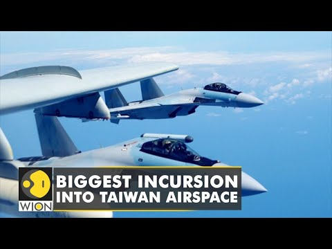 56 Chinese planes in Taiwan airspace   WION English News   Latest News