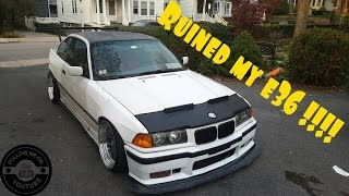 ruined my e36 insanely aggressive fitment extreme tire stretch install e36 widebody felony form