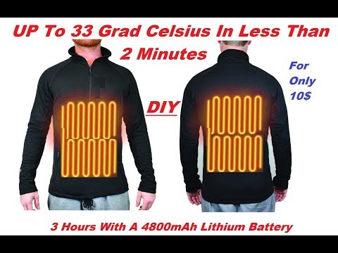 DIY Battery Heated Shirt Heated Clothing - Electric Clothing - Winter Clothing