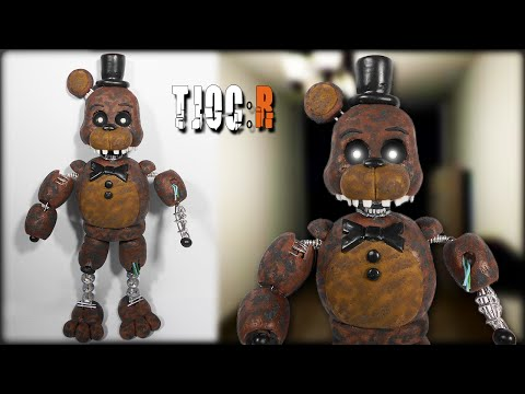 TJOC:R ✰ Ignited Freddy Posable Figure Tutorial ✔ Polymer Clay ✔ Porcelana Fría