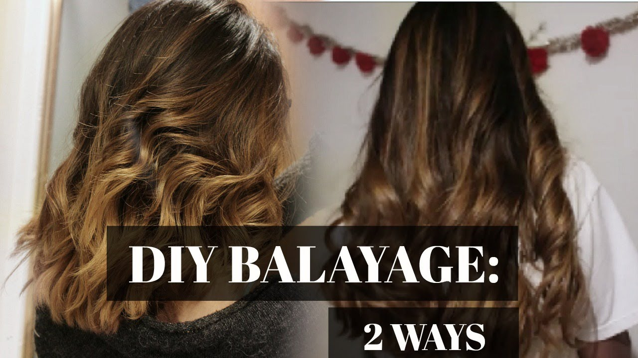 Diy Balayage At Home 2 Ways Youtube