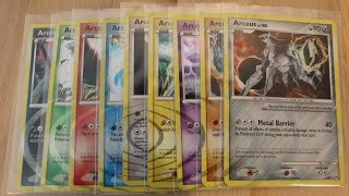 [Pokemon Showcase] 9 Types of Arceus Cards