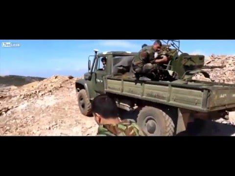 Syria  Drone footage captures Syrian Army battling Al Nusra in Latakia