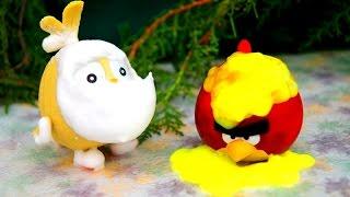 ANGRY BIRDS кто сильнее??? Злые птички и слизь. Игрушки. Энгри бердс. Мультик. Angry birds toys