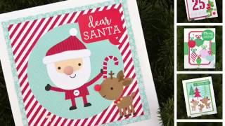 Process Video 16: 10 Quick Christmas Cards with Here Comes Santa Claus from Doodlebug Design
