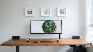 DIY Dream Desk Setup - Clean Modern Wood Design