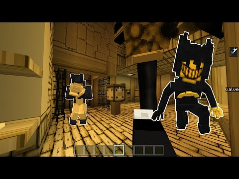 I Made All Bendy And The Ink Machine Characters In Minecraft PE | BE