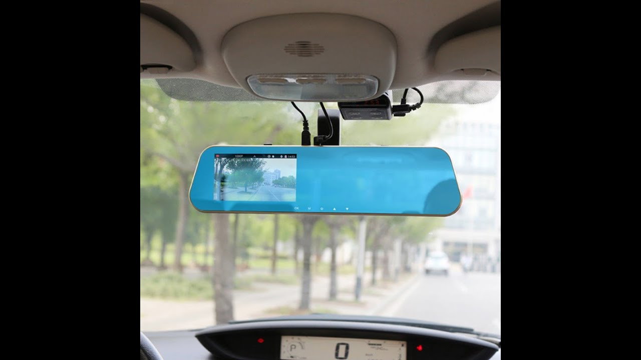 front rear view mirror car dvr camera review youtube
