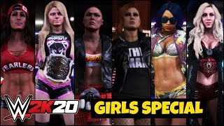 WWE 2K20 'GIRLS POWER' Theme Gameplay ! Fail Game 2k20 Special Gameplay !