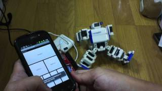 Android microBridge And iSobot control demonstration.