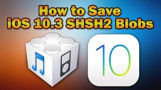 How to Save iOS 10.3.2 / 10.3.1 / 10.3 SHSH2 Blobs for Future iOS Downgrades