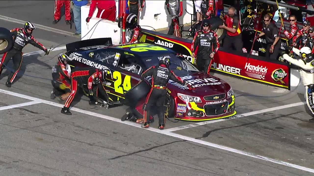 NASCAR Jeff Gordon pit stop troubles | New Hampshire Motor ...