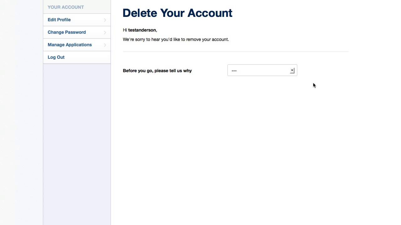how to delete an instagram avc