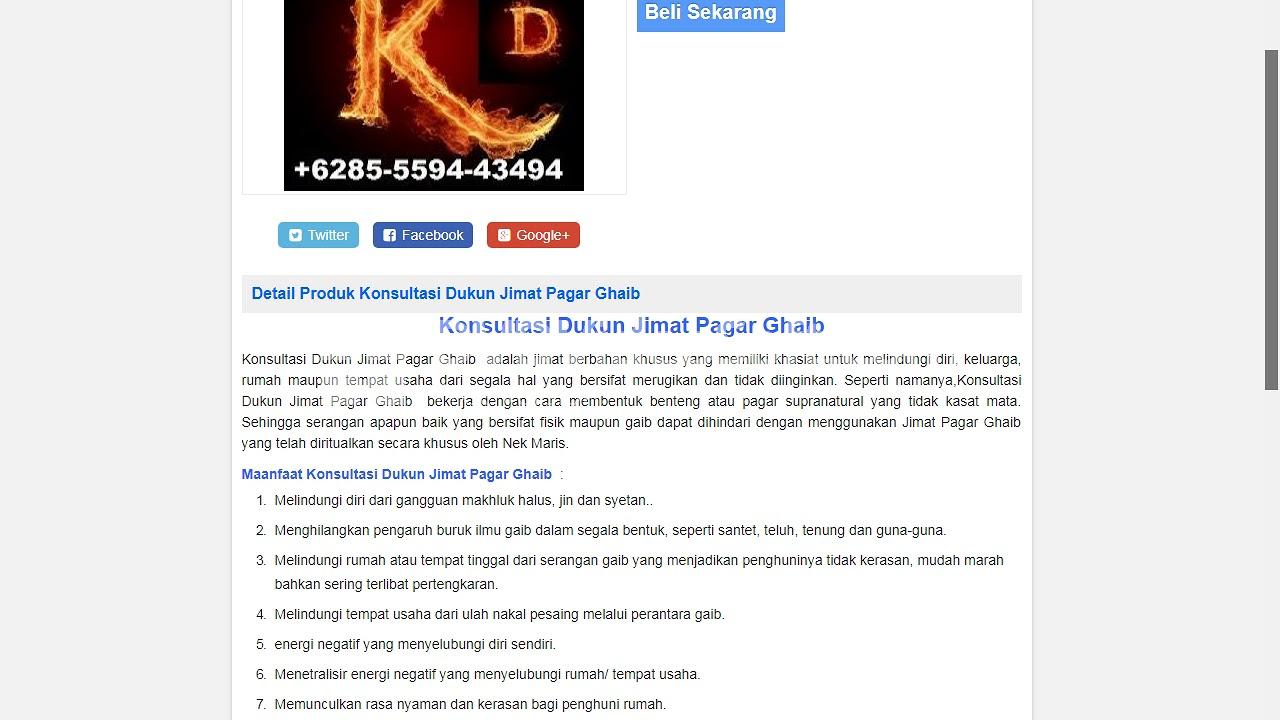 Konsultasi Dukun Jimat Pagar Ghaib - YouTube