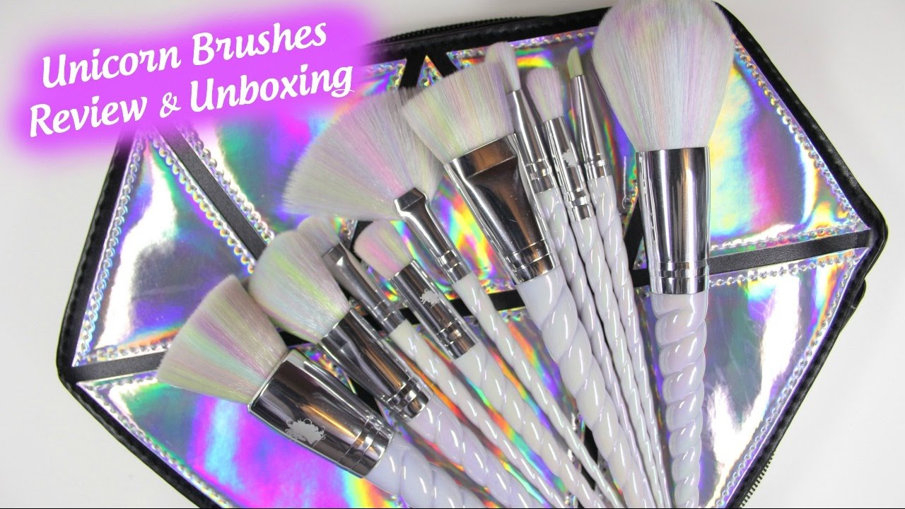 unicorn makeup brushes. unicorn makeup brushes review