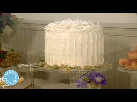 Vanilla Chiffon White Cake with Grated Coconut - Martha Stewart