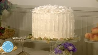 Vanilla Chiffon White Cake with Grated Coconut - Martha Stewart