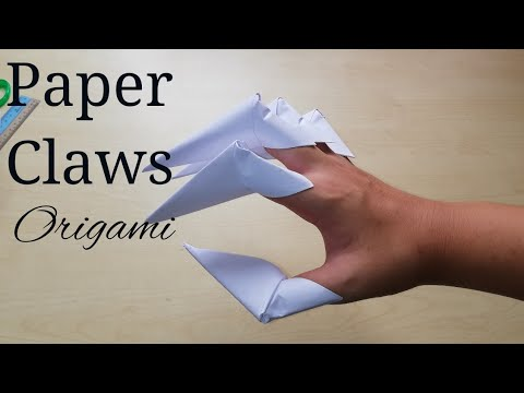 How To Make Paper Claws origami - DIY simple Paper Dragon Claws origami (tutorial)