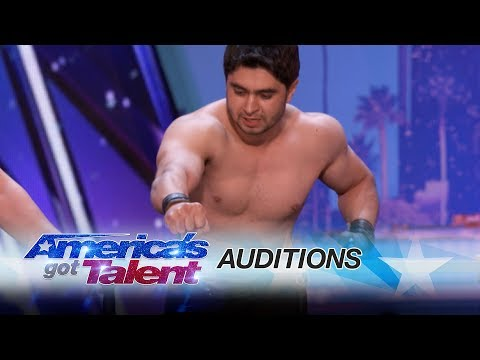 Azeri Brothers: Scary Dudes Freak Out the Audience with Torture Stunts - America's Got Talent 2017