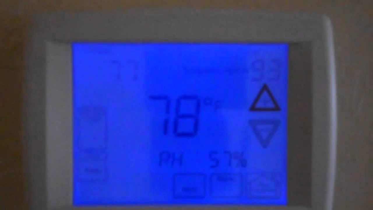 4 of 7 temporary hold function of rheem 500 series comfort control2 rh youtube com rheem 200 series thermostat instruction manual rheem 200 series thermostat instructions