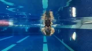 How to swim Breaststroke - Underwater Arms head on shot