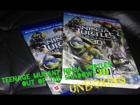 Teenage Mutant Ninja Turtles Out Of The Shadows 3D Blu-ray unboxing (UK)