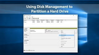 Windows 10 -  How To: Partition Hard Drives (2018) | Hard Drive Partition