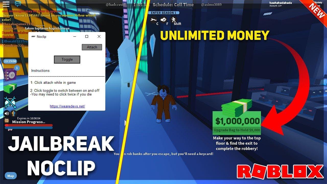 Working Unlimited Money In Jailbreak Using Op Noclip Walk