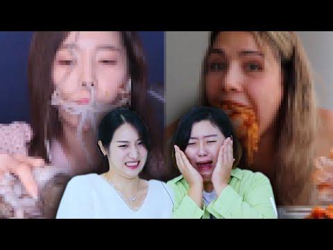 Koreans In Their 30s React To CRINGE MUKBANGS