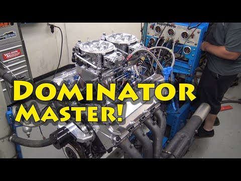 Dual Dominator 1442 HP Nitrous 632 BBC is taught to behave.  NRE. See how the pros do it.