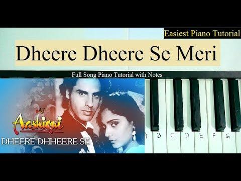 Dheere Dheere Se Meri Zindagi Piano Tutorial | Slow Keyboard Lesson