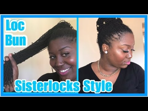 Loc Bun W Bobbi Boss Micro Locs Crochet Braid Hair Sisterlocks