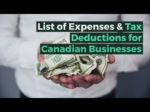Canadian Businesses Expenses & Tax Deductions