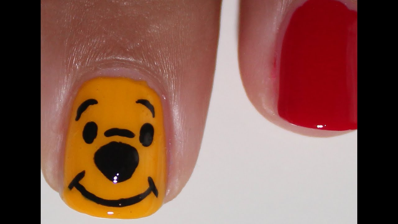 Winnie The Pooh Nail Art Tutorial Youtube