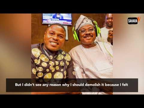 So Sad!  Public Outcry Against Ajimobi As He Demolishes Yinka Ayefele's N800m Music House (Watch Video)