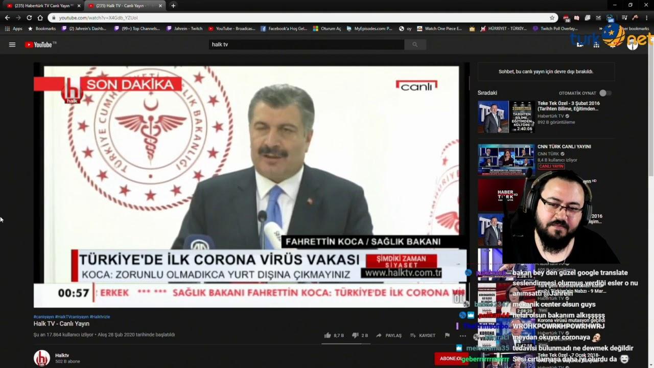 Jahrein - Sağlık Bakanı Corona Virüs Açıklamasını İzliyor.