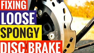 HOW TO SERVICE SPONGY, LOOSE DISC BRAKE | BLEEDING DISC BRAKES | TVS APACHE RTR 200 BRAKE BLEEDING